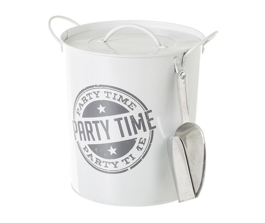 Galetusa cu capac pentru gheata Party Time White Grey 3 L