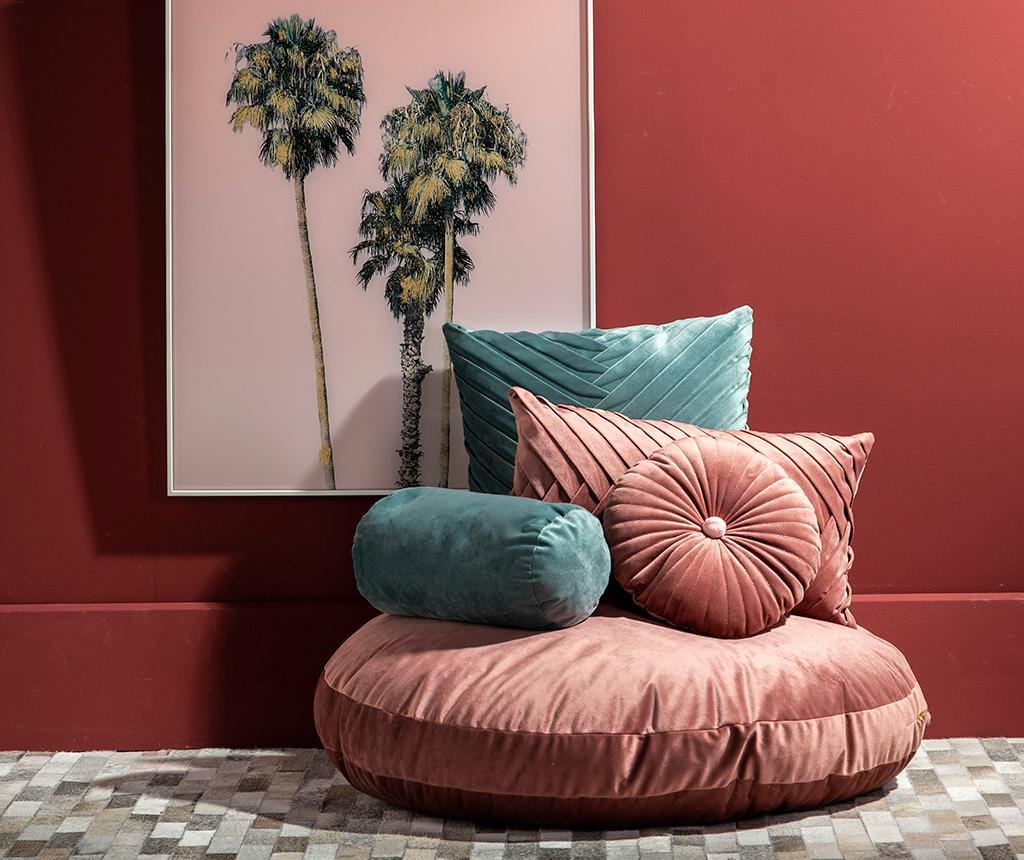 Podni jastuk Velvet Plain Pink 80 cm