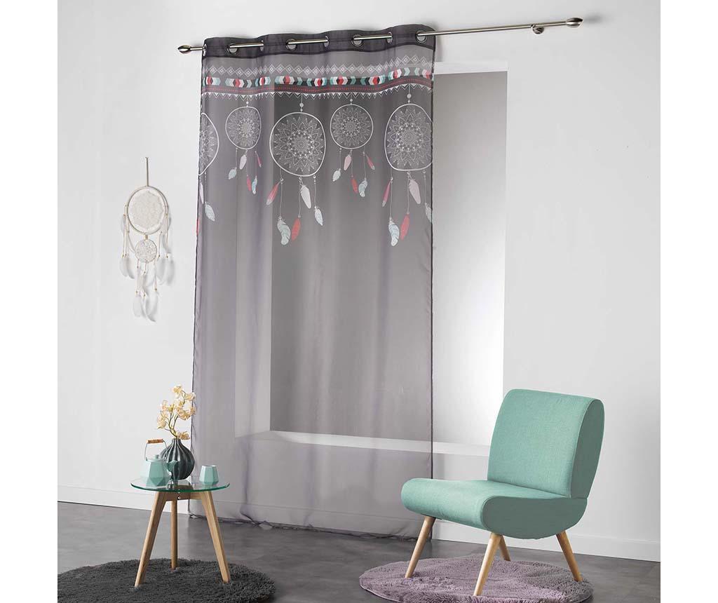 Zavjesa Indila Anthracite & Mint 140x240 cm