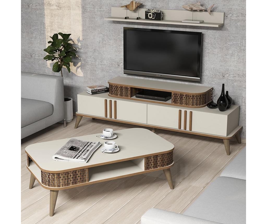 Sada nábytku do obývačky Eylul Cream