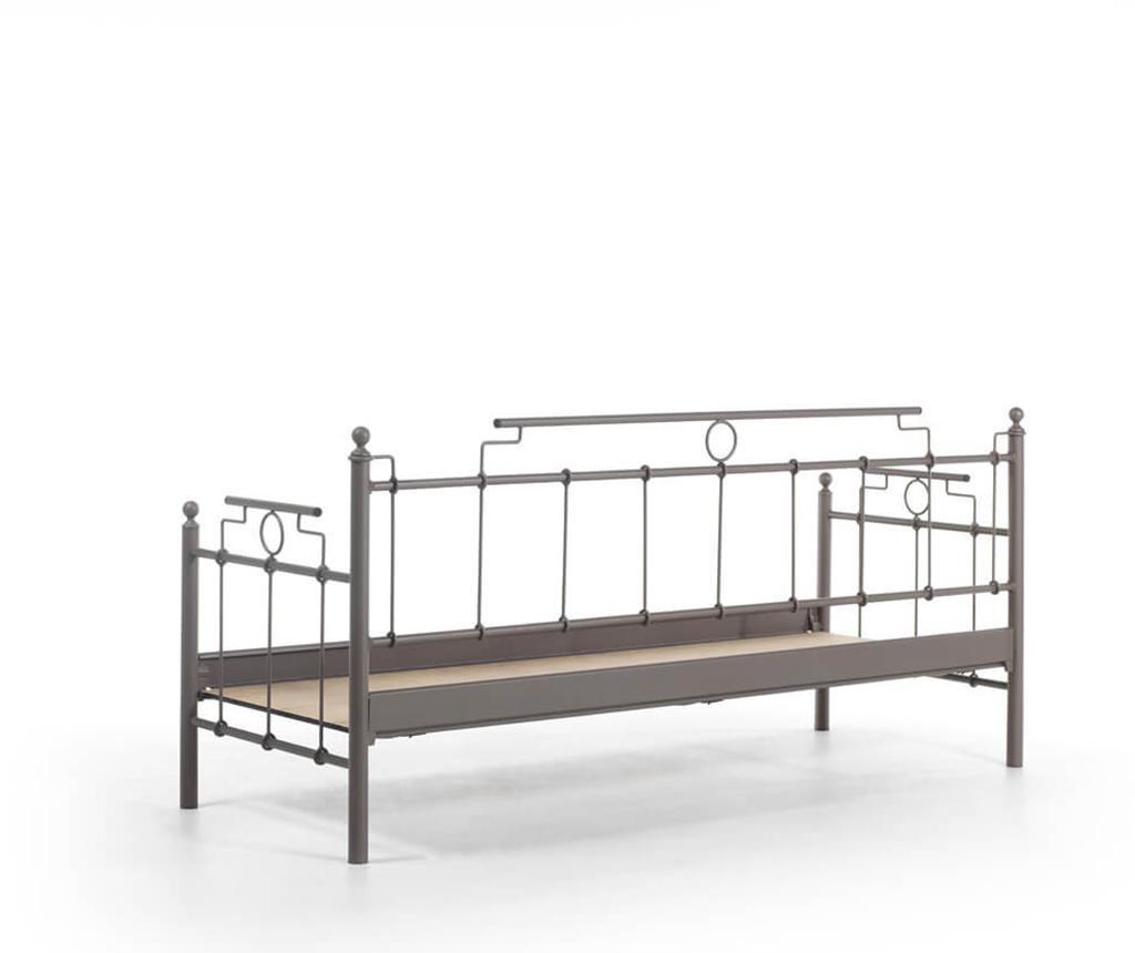 Set kauč trosjed i 2 fotelje za vanjski prostor Hatkus Brown Dark Blue