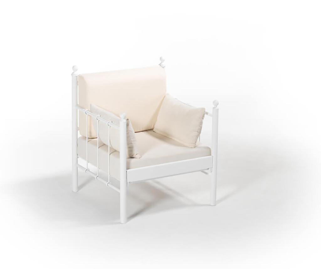 Set - vrtni dvosed in 3 vrtna fotelja Lalas Old White Beige