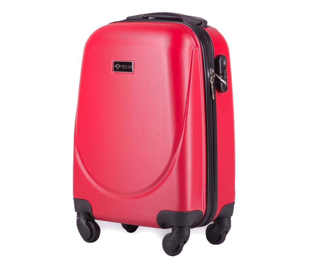 Kovček na kolesih Wave Red 27 L