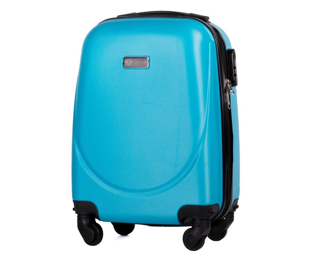 Kovček na kolesih Wave Light Blue 27 L