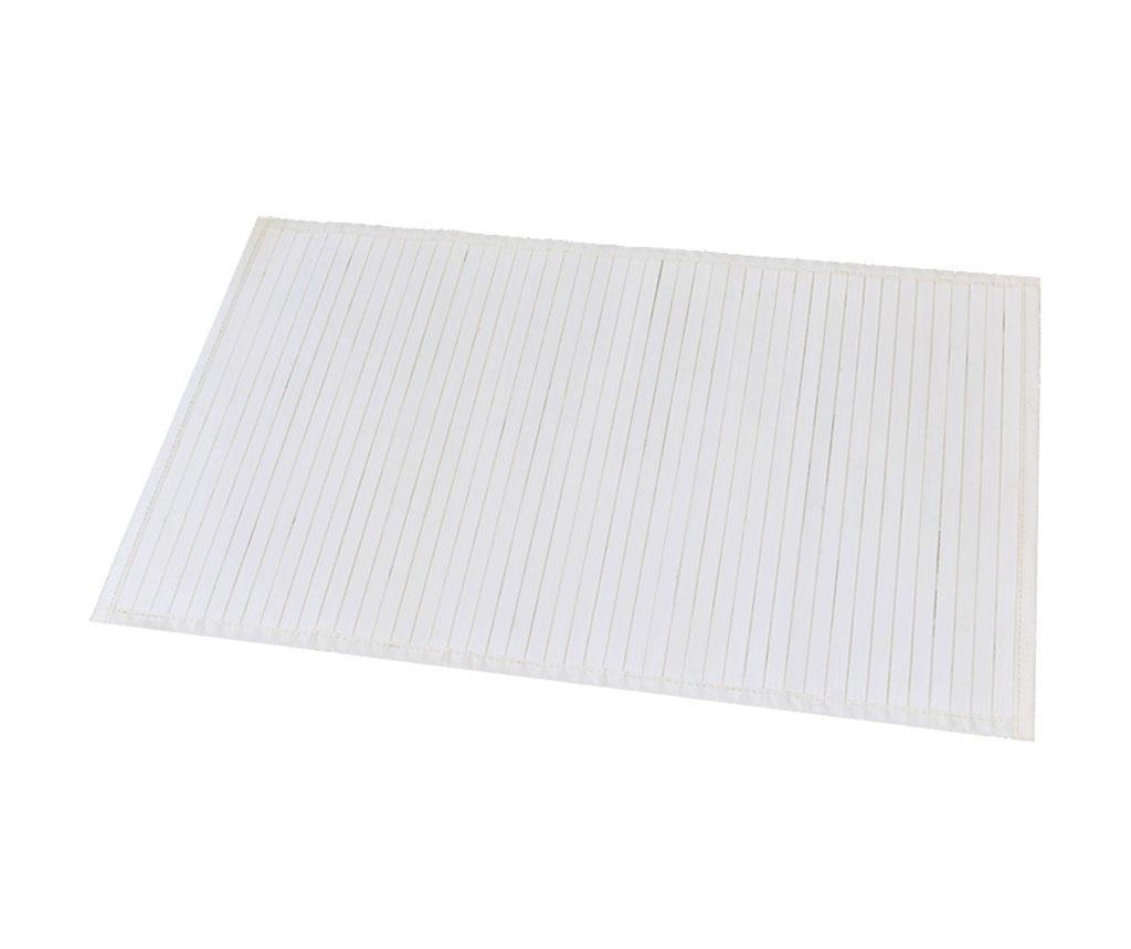 Kupaonski tepih Lines White 50x80 cm