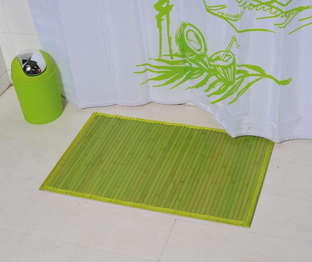 Covoras de baie Lines Green 50x80 cm