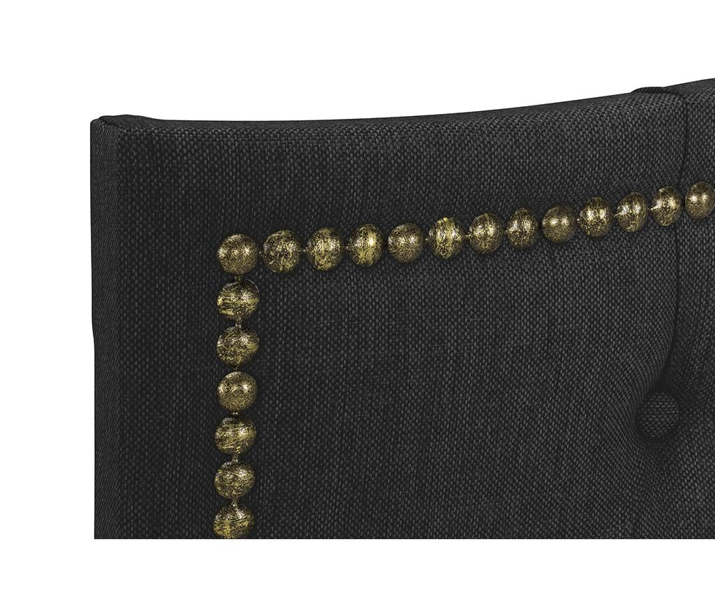 Табла за легло Venetta Wave Dark Grey 130x185 см