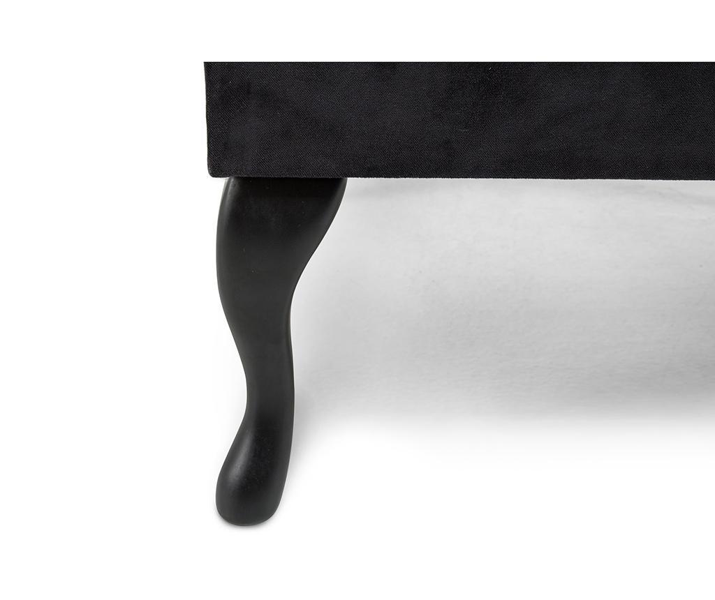 Taburet pentru picioare diYana Square Black