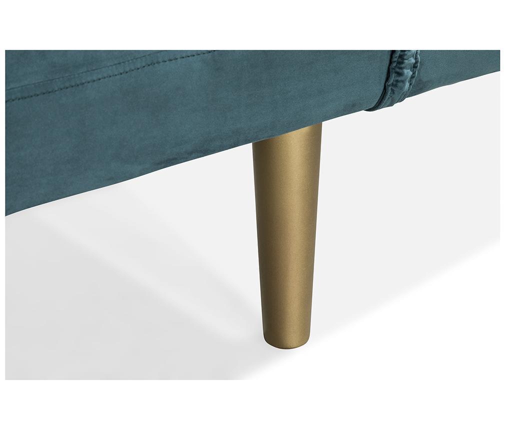 Ležaljka za dnevni boravak diYana Bluegreen And Golden Legs
