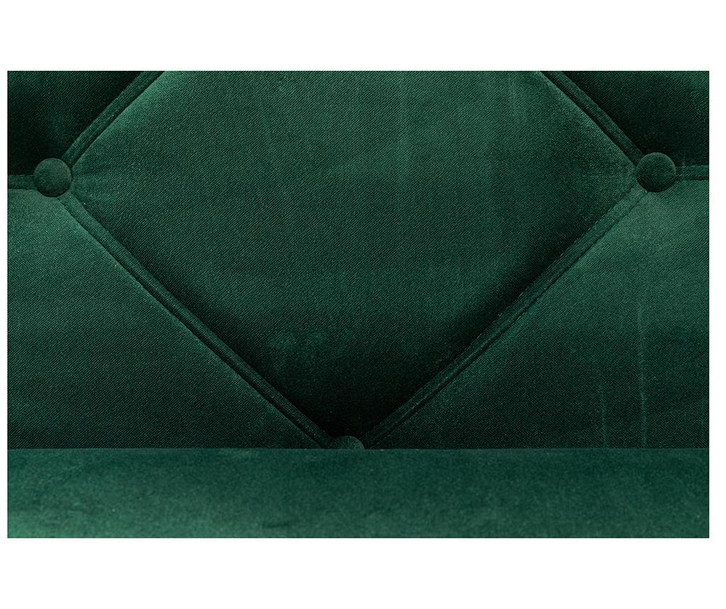 Počivalnik za dnevno sobo diYana Dark Green And Golden Legs