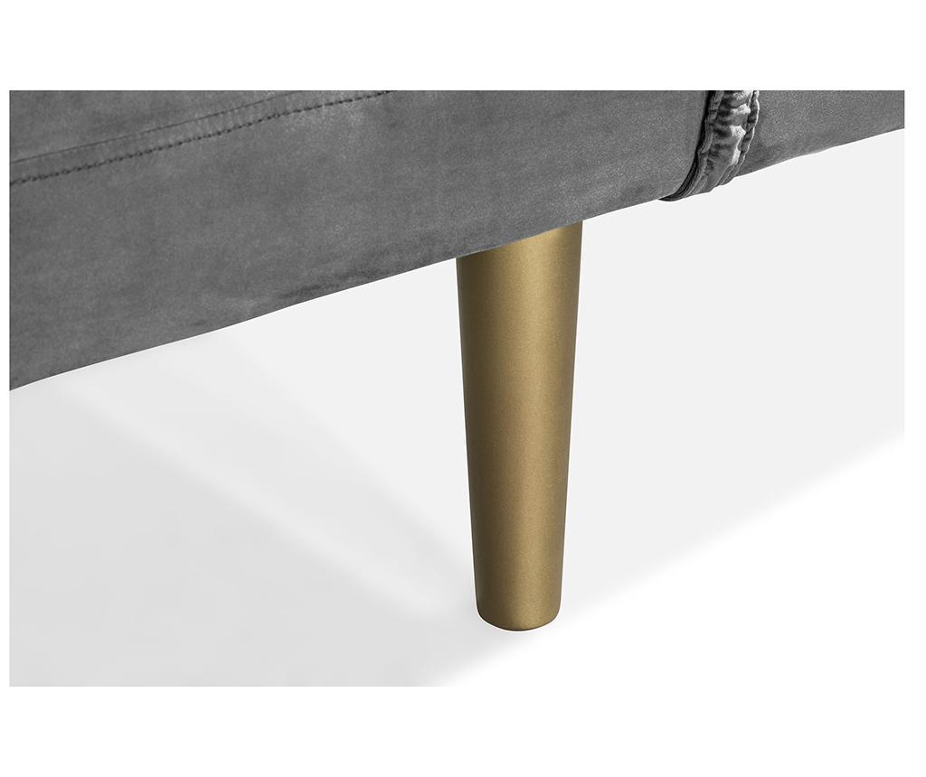 Ležaljka za dnevni boravak diYana Dark Grey And Golden Legs