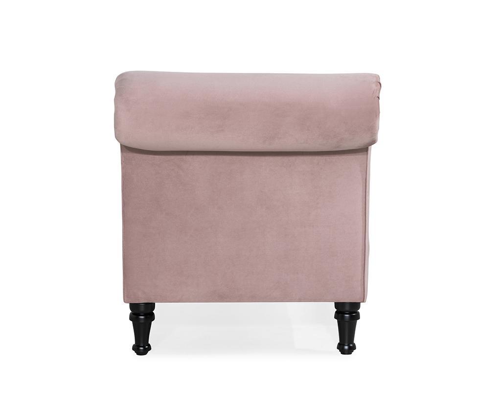 Szezlong prawostronny do salonu diYana Light Pink