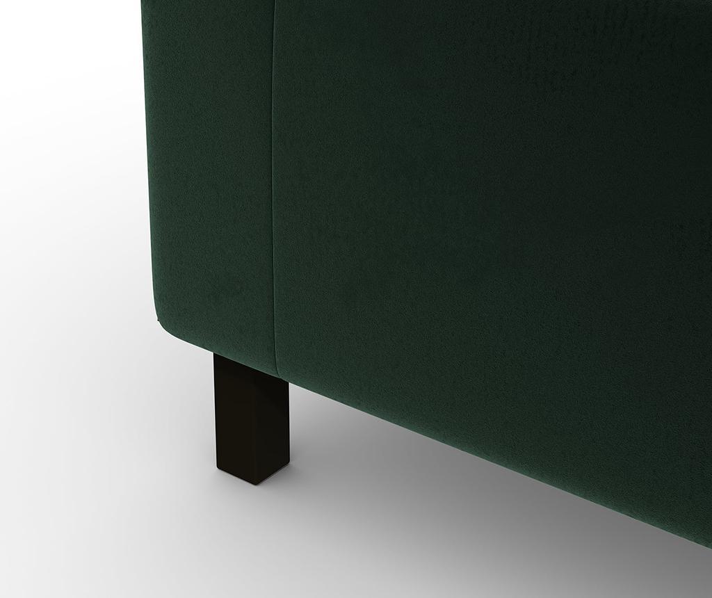 Enota kotne modularne sedežne garniture Cristina Corner Dark Green