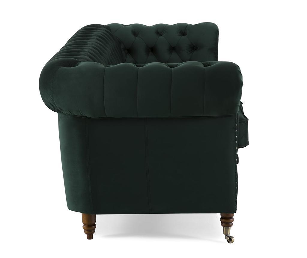 Canapea 4 locuri Chesterfield Dark Green