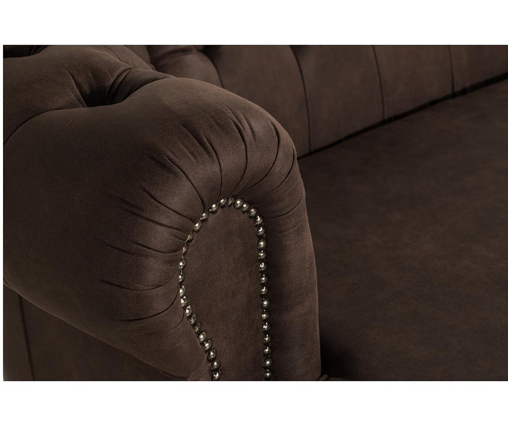 Kauč trosjed Chesterfield Curved Vintage Brown