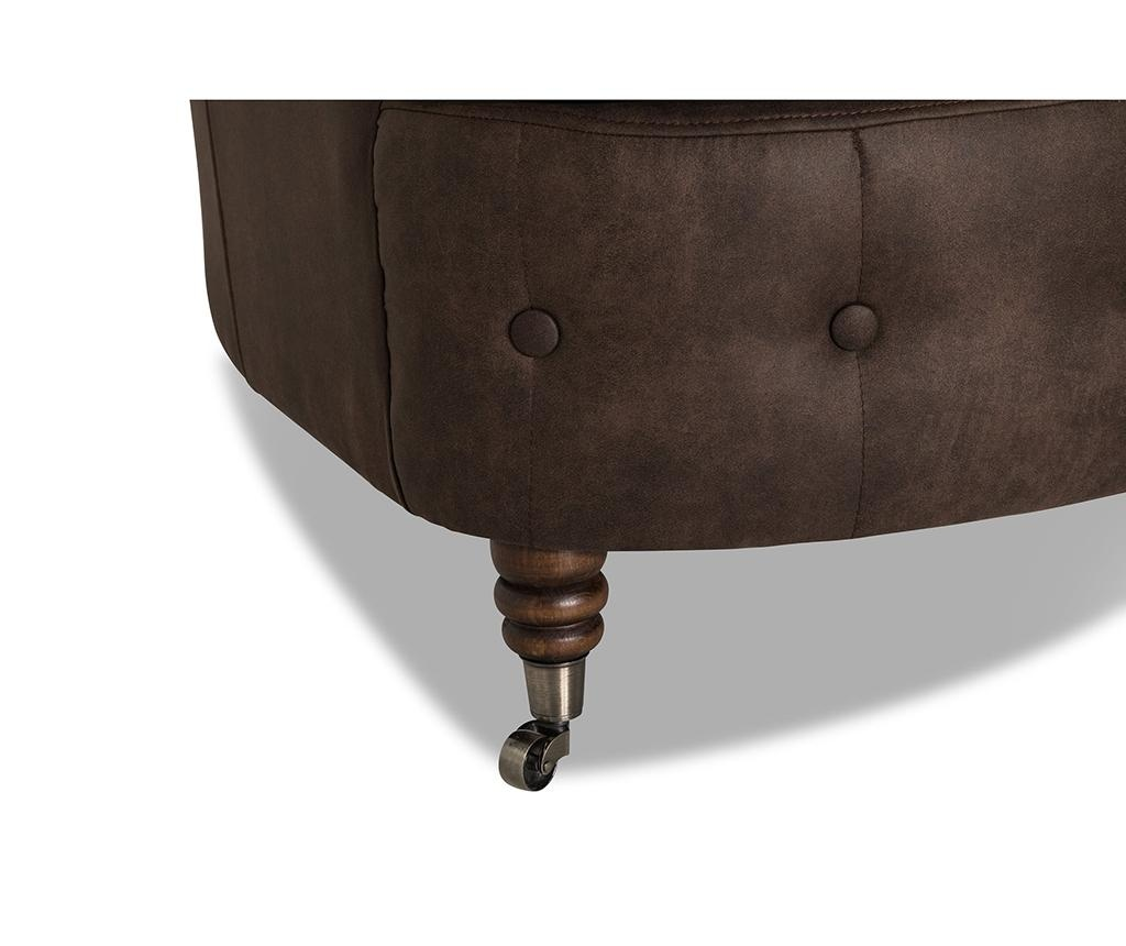 Chesterfield Curved Vintage Brown Háromszemélyes kanapé