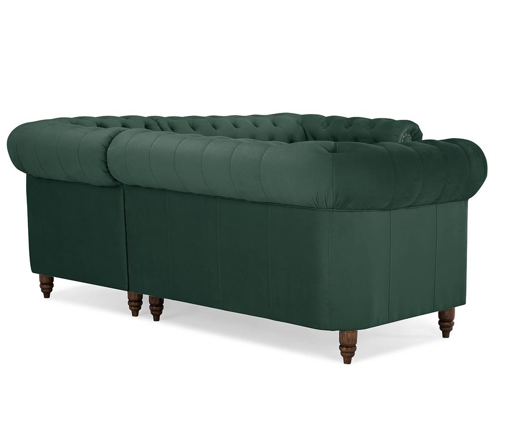 Chesterfield Dark Green Sarokkanapé
