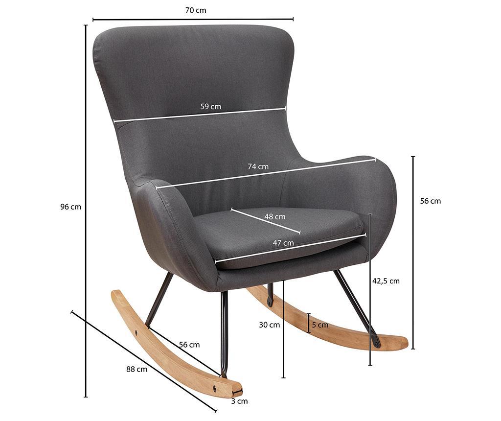 Houpací židle Rosie Grey