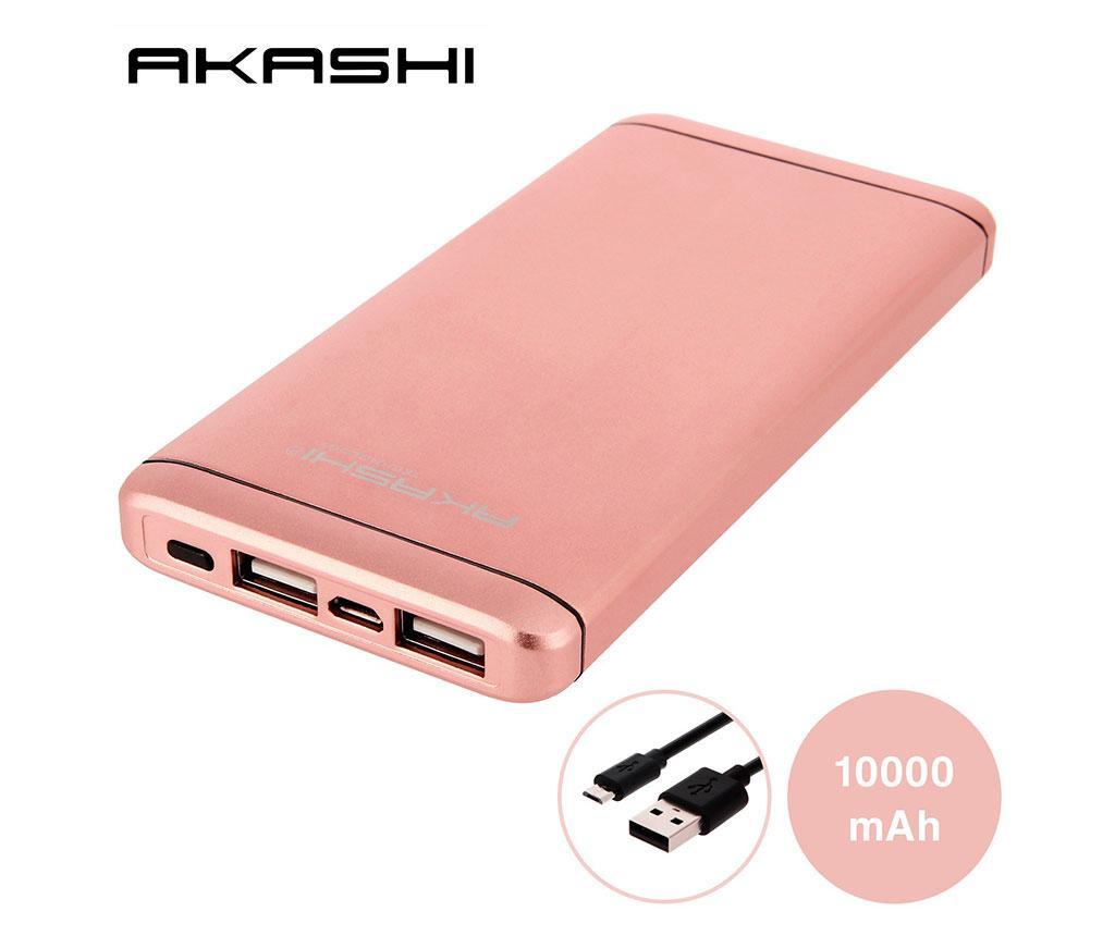 Baterie externa Akashi Slim Alum 2xUSB Pink
