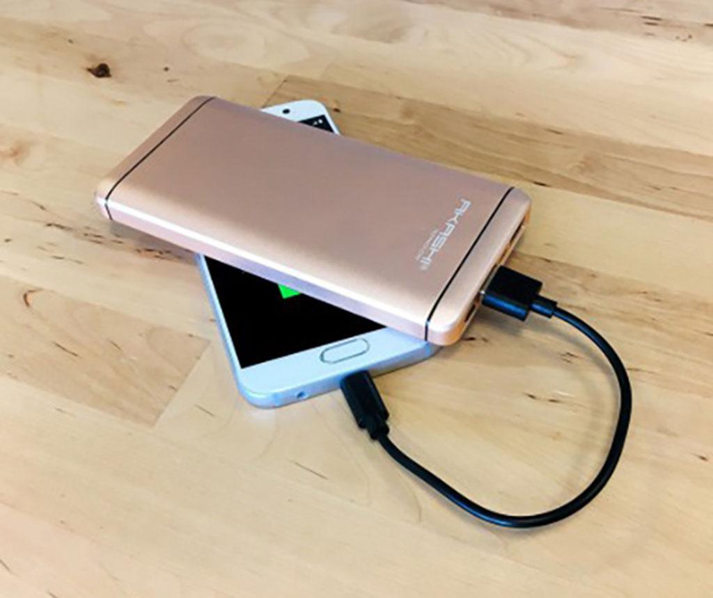 Baterie externa Akashi Slim Alum 2xUSB Gold