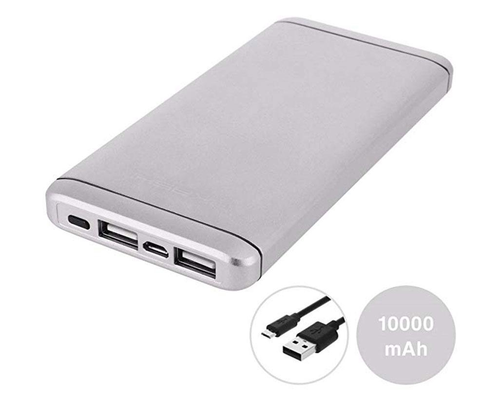 Baterie externa Akashi Slim Alum 2xUSB Silver