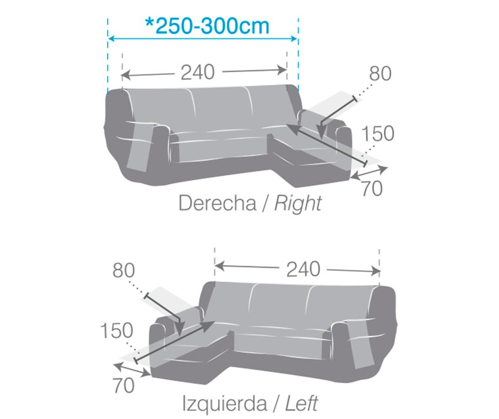 Prošivena navlaka za lijevu kutnu garnituru Oslo Blue 240x150x80 cm
