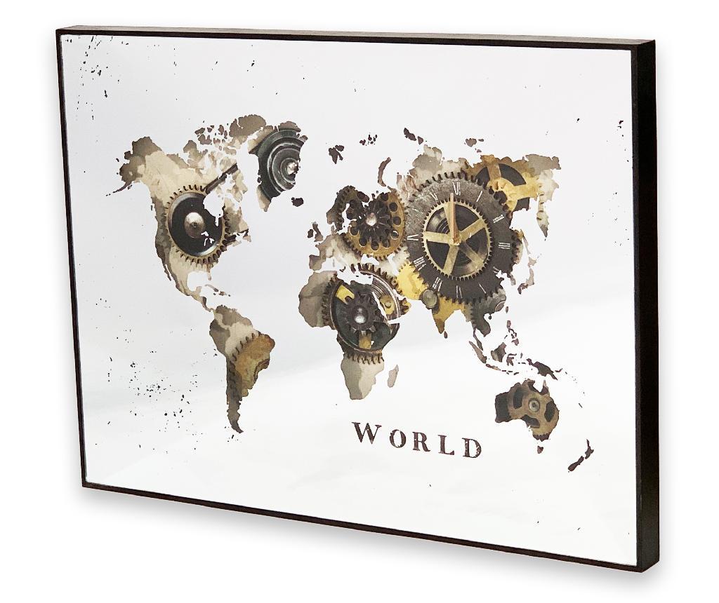 Ceas de perete World Map