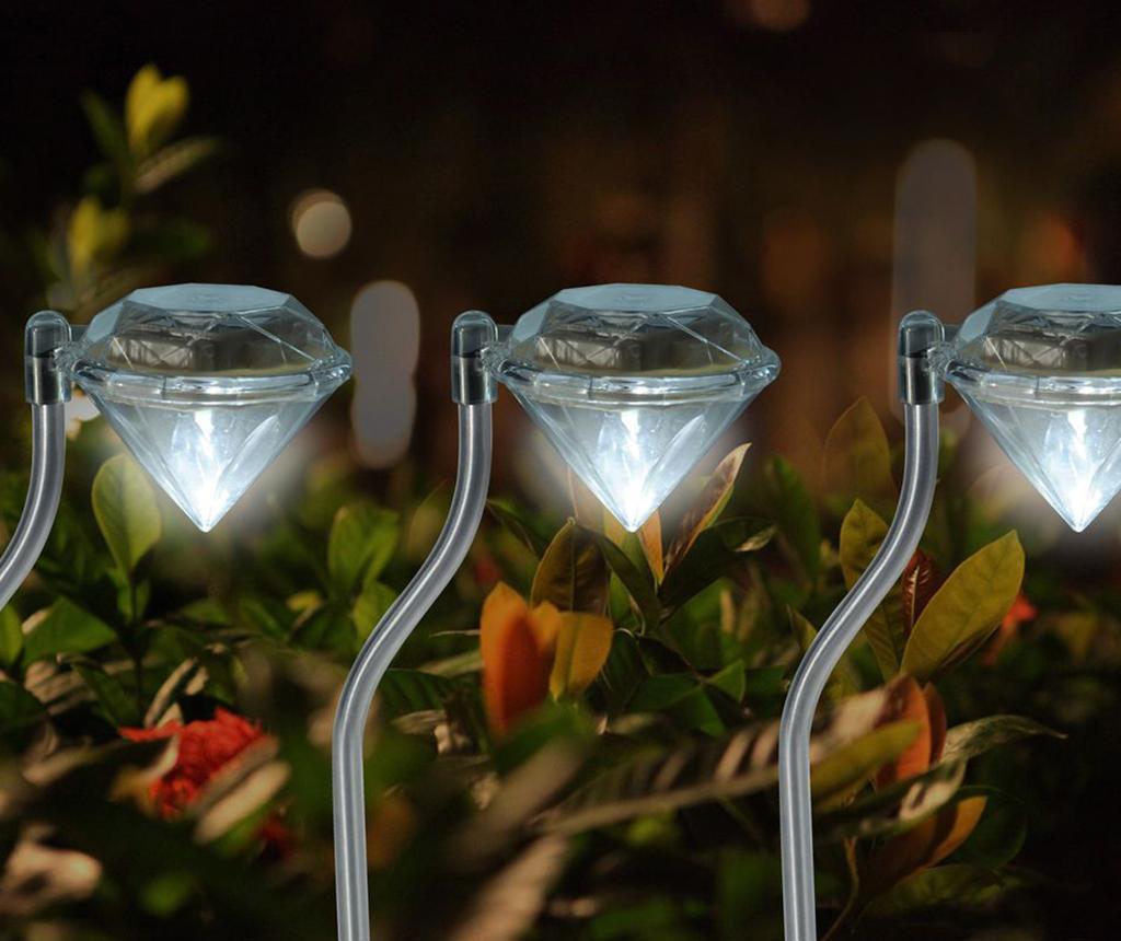 Set 4 lampi solare Diamond