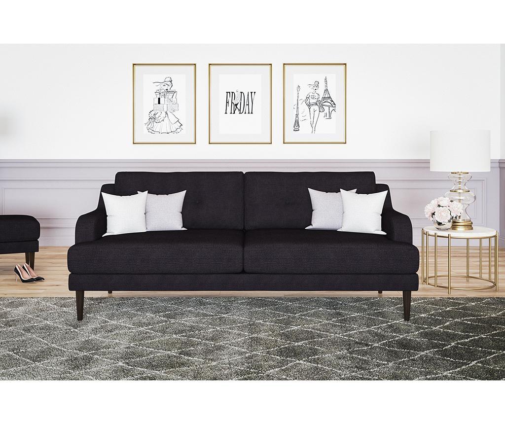 Gaby Anthracite Háromszemélyes kanapé