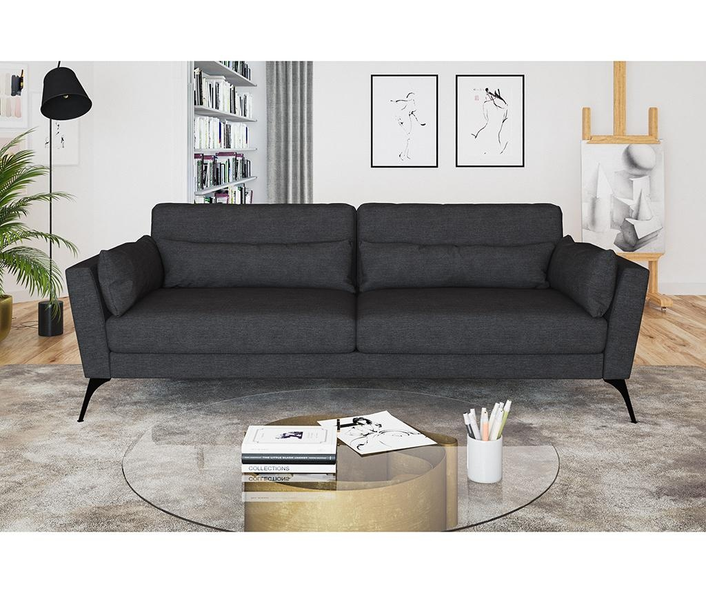 Susan Anthracite Háromszemélyes kanapé