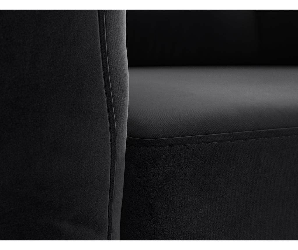 Bree Black Háromszemélyes kanapé