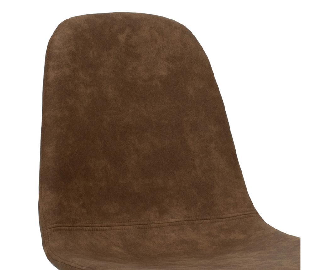 Stolička Bella Leather Brown Black Legs