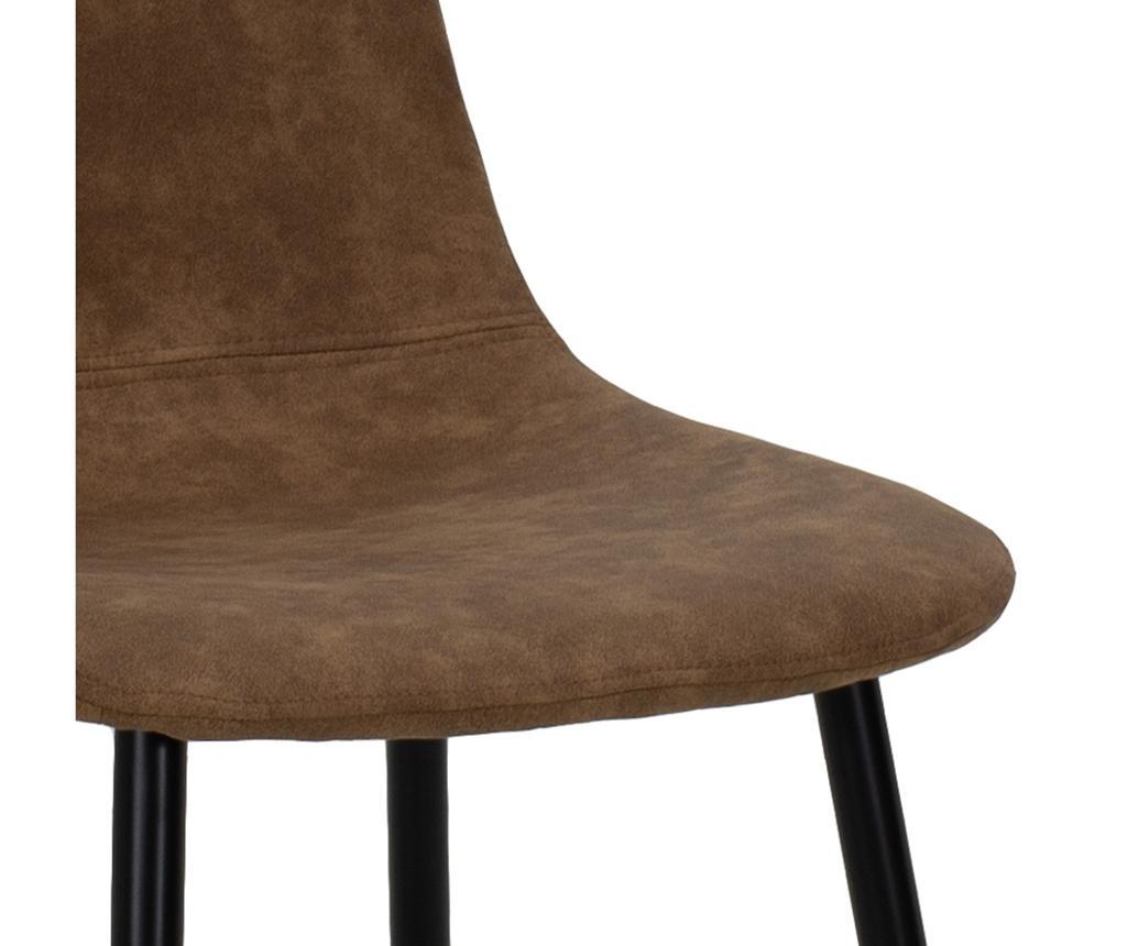Stol Bella Leather Brown Black Legs