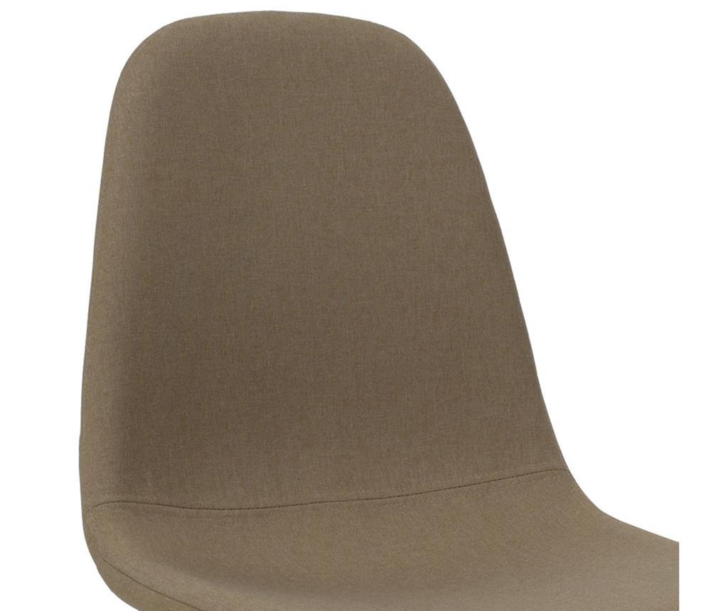 Stolica Bella Fabric Beige Black Legs