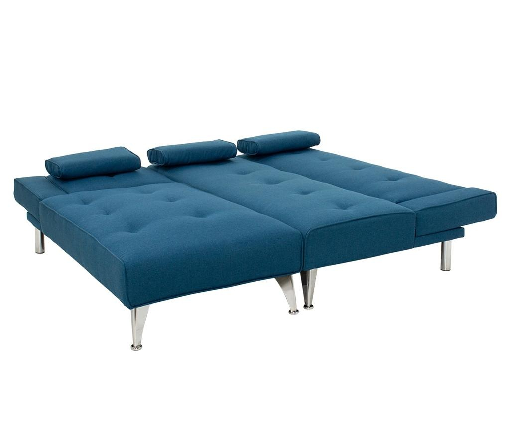 Raztegljiva leva kotna sedežna garnitura Premium Blue