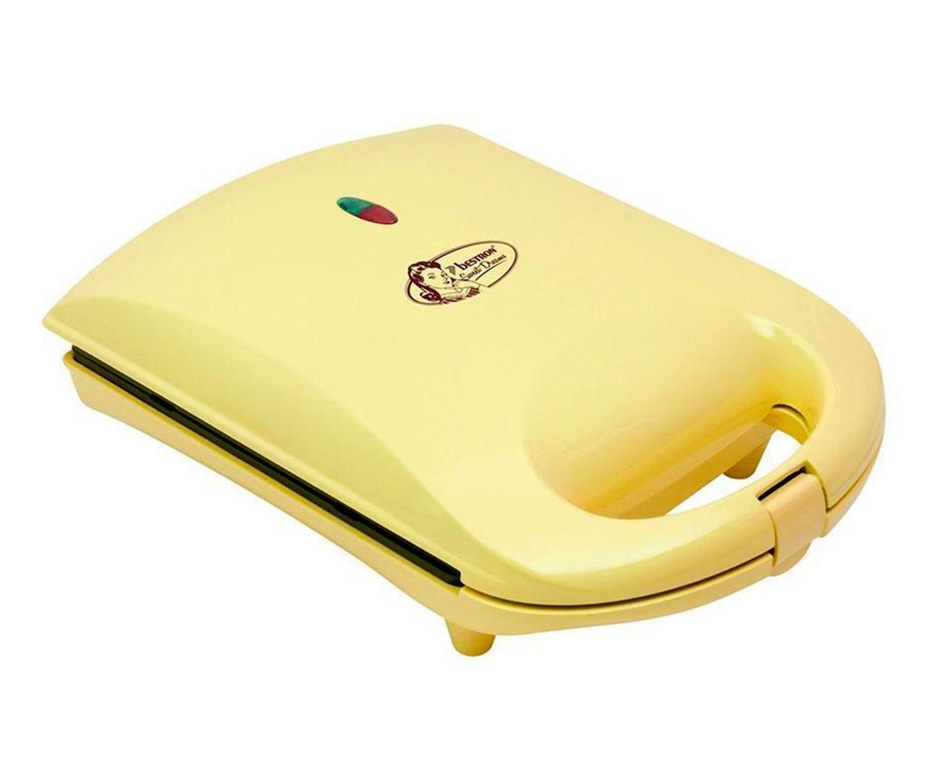 Heart Shaped Yellow Elektromos gofrisütő