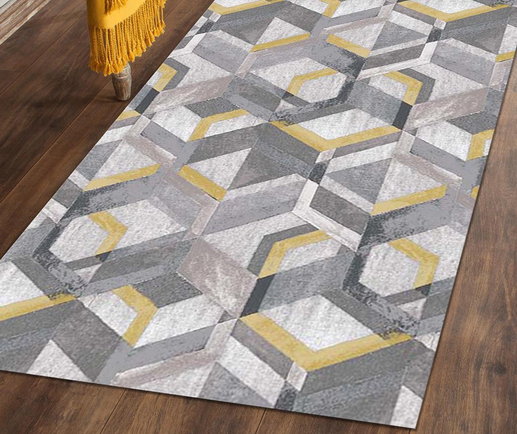 Tepih Retro Grey Ochre 60x240 cm