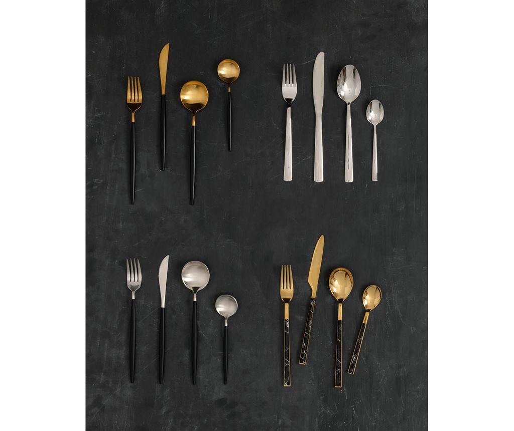 16-dijelni  pribor za jelo Avie Marble Gold