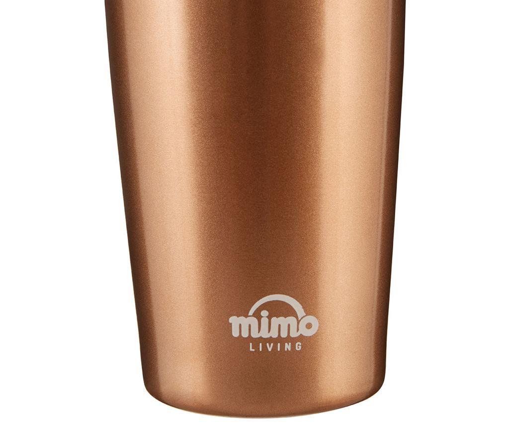 Potovalna skodelica Mimo Metallic Gold 550 ml