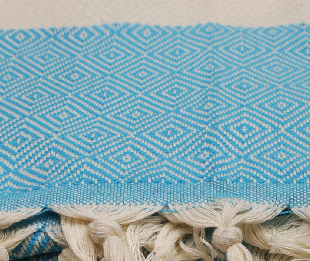 Plážový uterák Fouta Elmas Turquoise 100x180 cm