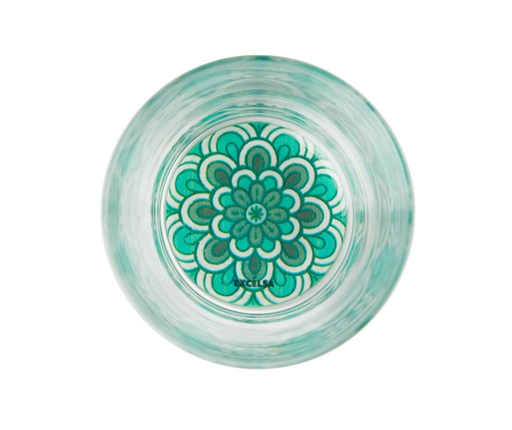 Set 6 kozarcev Mandala Light Blue 340 ml