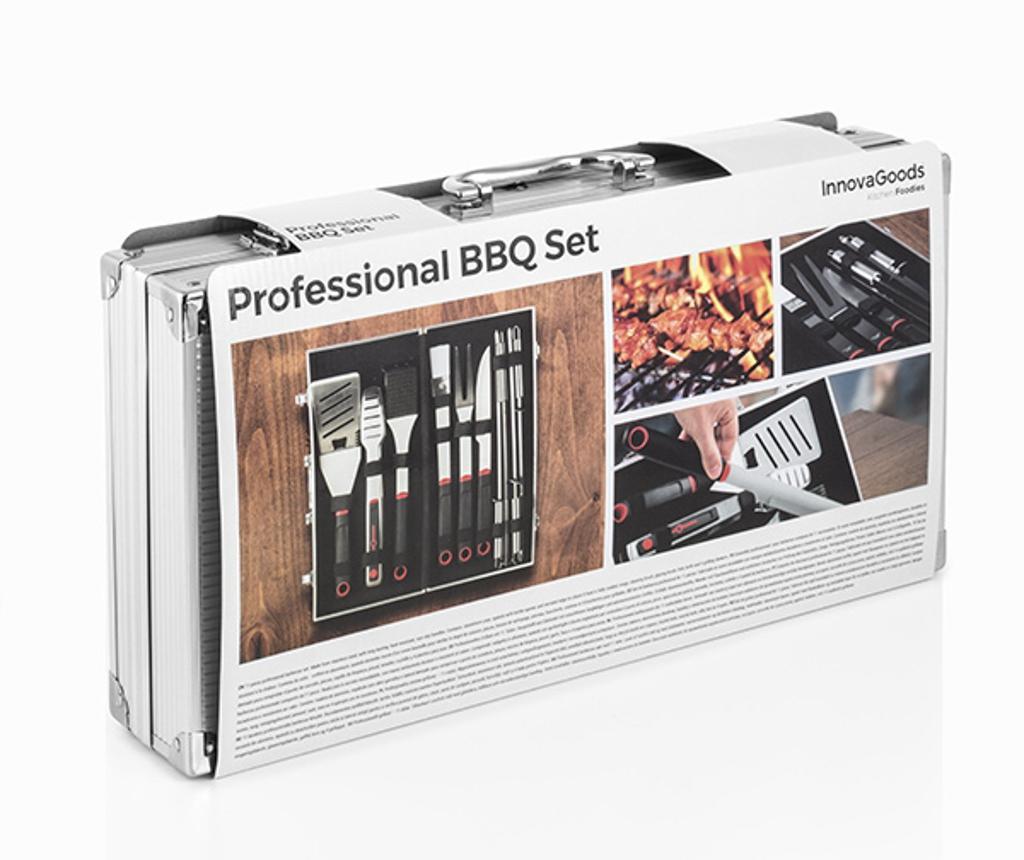 Set 10 pripomočkov za žar in škatla Professional
