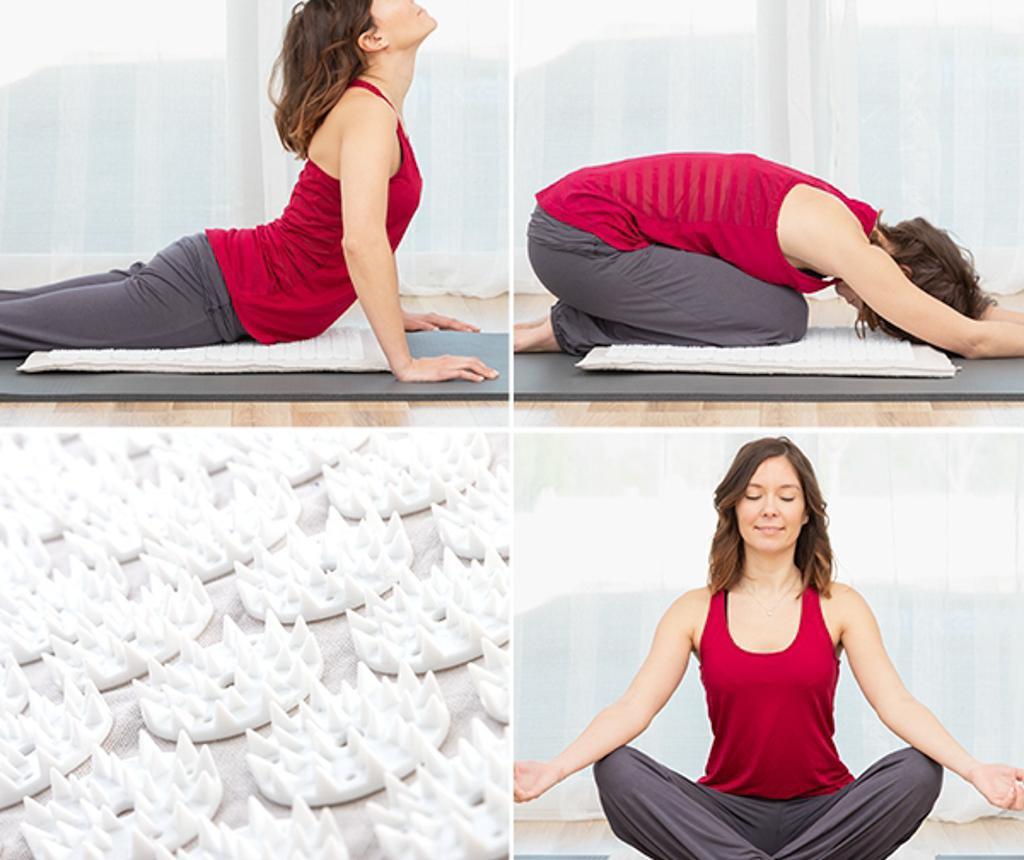 Minisaltea pentru acupunctura si masaj Yoga 41x66 cm