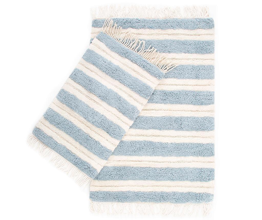 Set 2 kupaonska tepiha Jami Light Blue