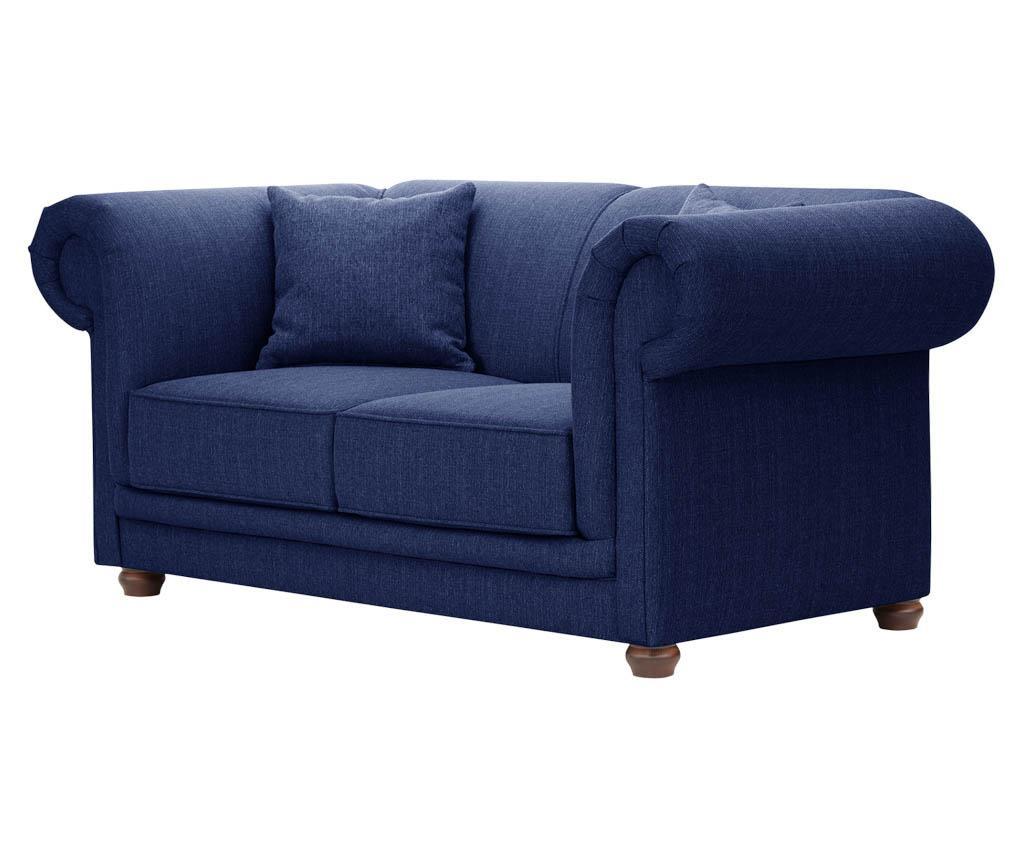 Canapea 2 locuri Aubusson Navy Blue