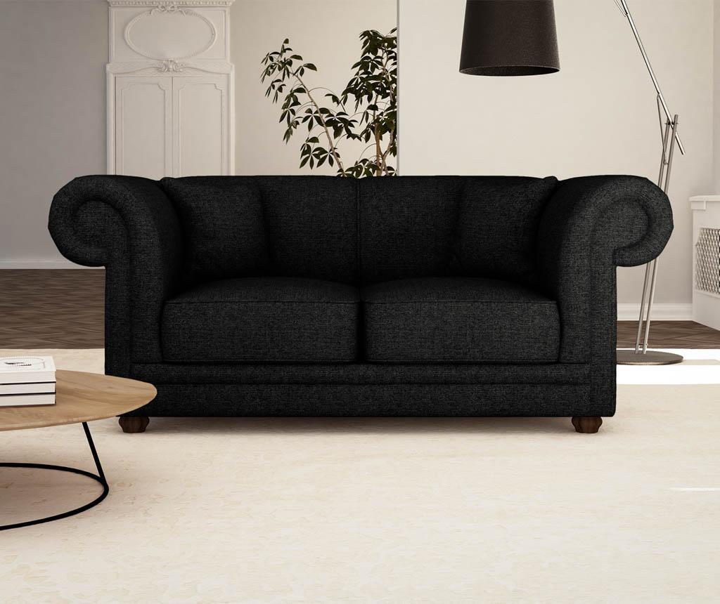 Canapea 2 locuri Aubusson Black