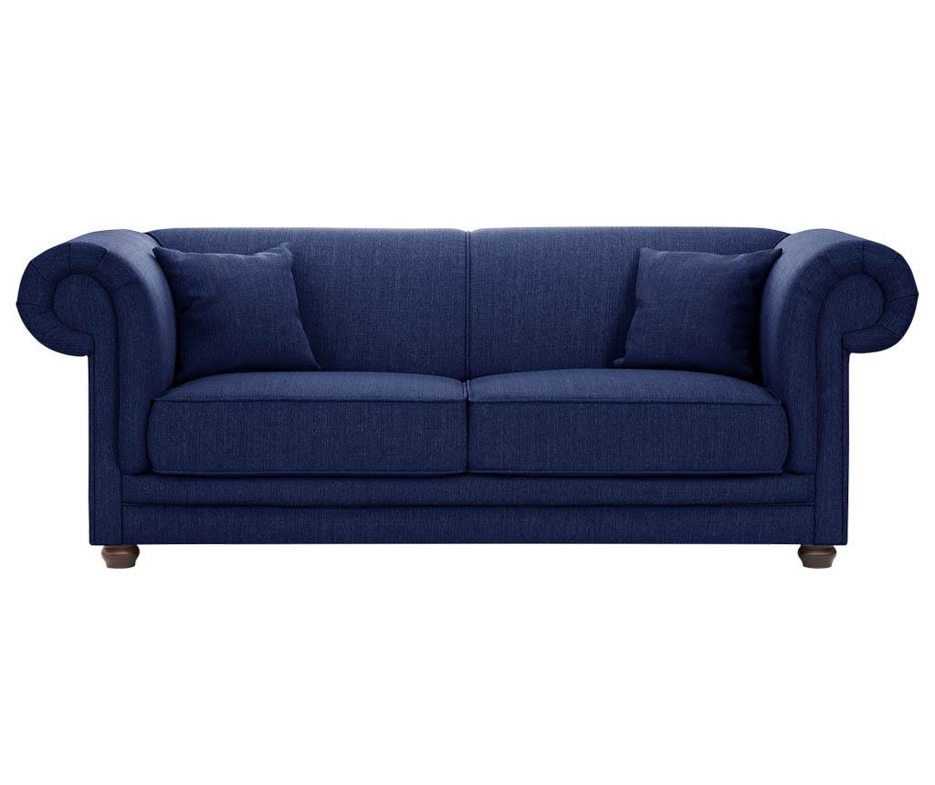 Canapea 3 locuri Aubusson Navy Blue
