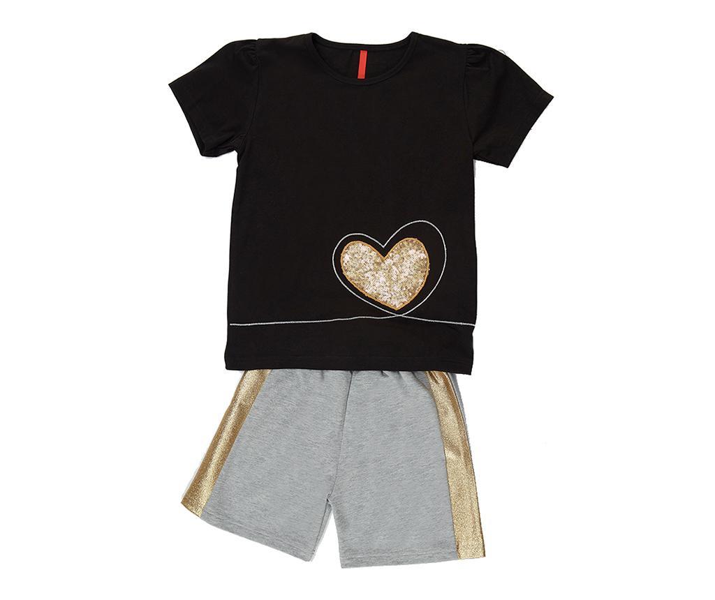 Otroški komplet - majica s kratkimi rokavi in hlače Golden Heart 8 years