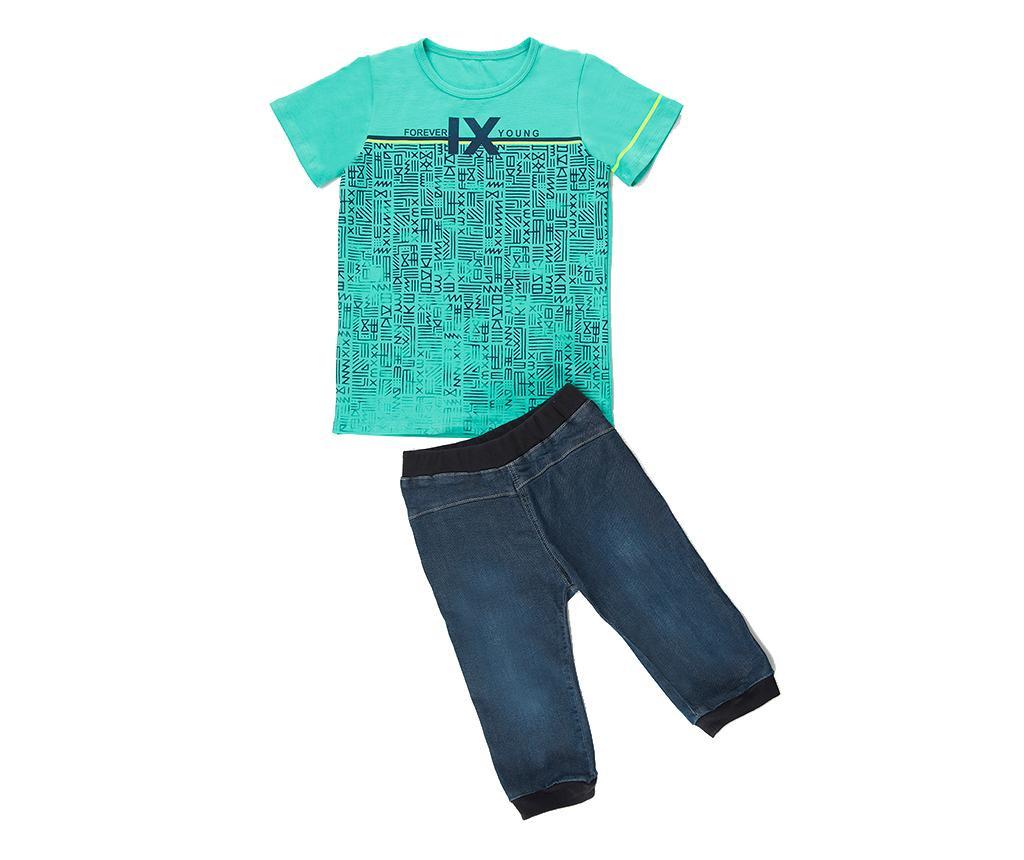 Set tricou si pantaloni pentru copii Forever Young 7 years