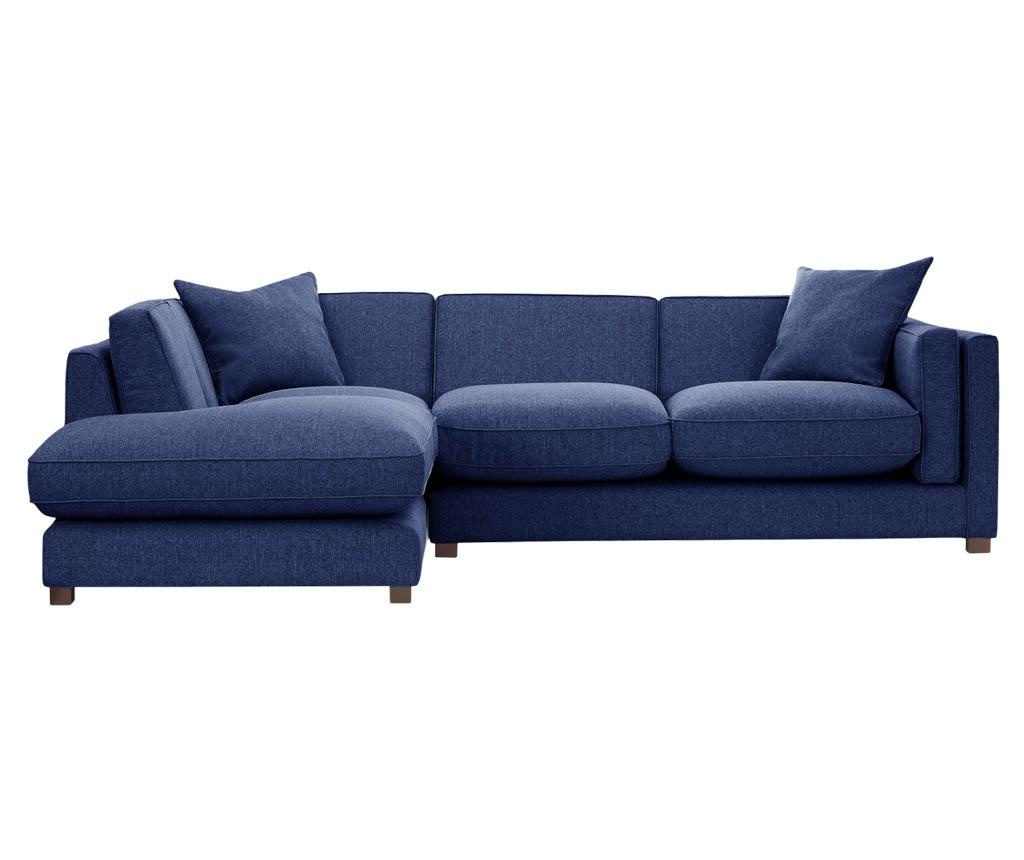 Coltar stanga Organdi Big Angle Navy Blue